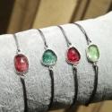 Bracelet tourmaline rose cut argent 925 - cordon