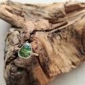 Bague tourmaline rose cut argent 925