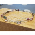 Bracelet Meldrine - modèle Ispahan - tourmalines et argent 925