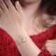 Bracelet plaqué or Art Déco ivoire- L'Atelier d'Olivia