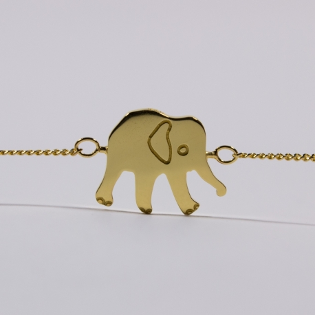 Bracelet Constant l'éléphant vermeil- Na na na naa