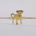 Bracelet Lucien le chien vermeil - Na na na naa