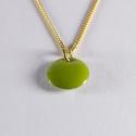 Collier confetti vermeil vert pomme - Na na na naa