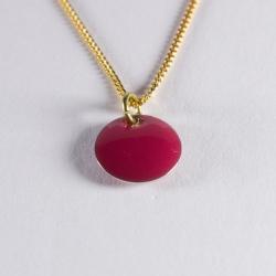 Collier confetti vermeil rose foncé - Na na na naa