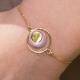 Bracelet Sweety plaqué or lilas - L'Atelier d'Olivia